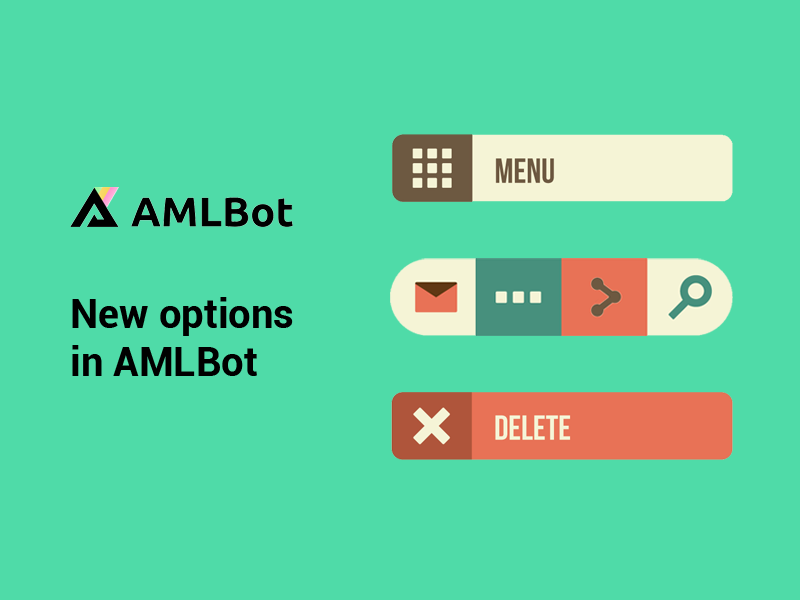 New options in AMLbot
